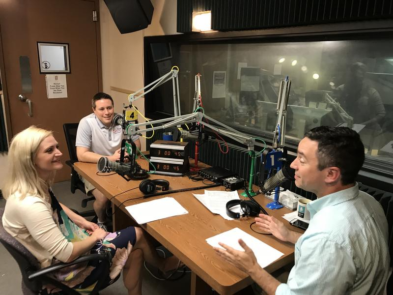 Rep. Lauren Arthur and Sen. Ryan Silvey talk with host Brian Ellison (right).