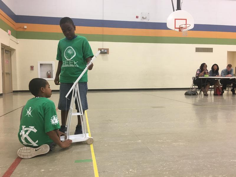 Campers got a chance to test their STEM knowledge by designing and building catapults for an engineering competition.