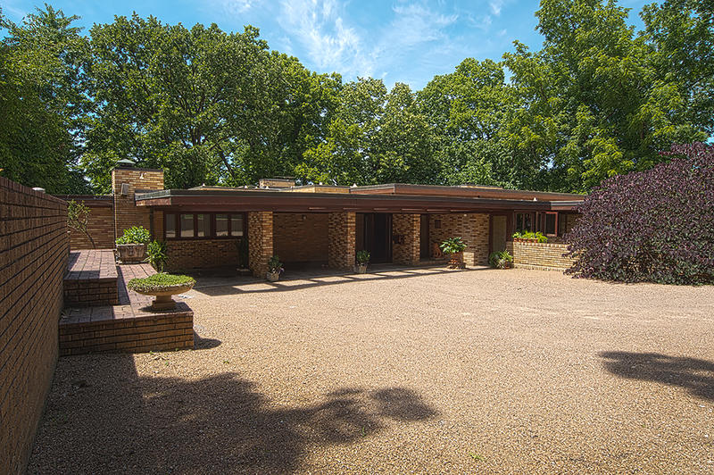 Frank Lloyd Wright brought his Usonian style to this Roanoke neighborhood home.
