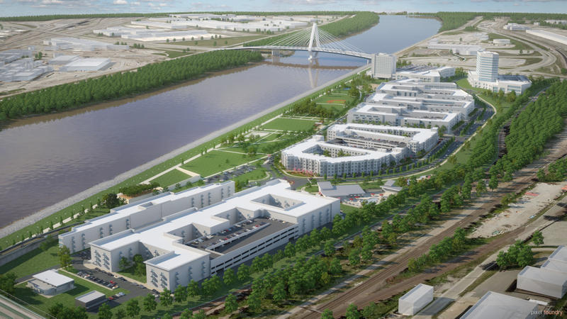 A multi-phase, mixed-use development is planned for Berkley Riverfront Park.