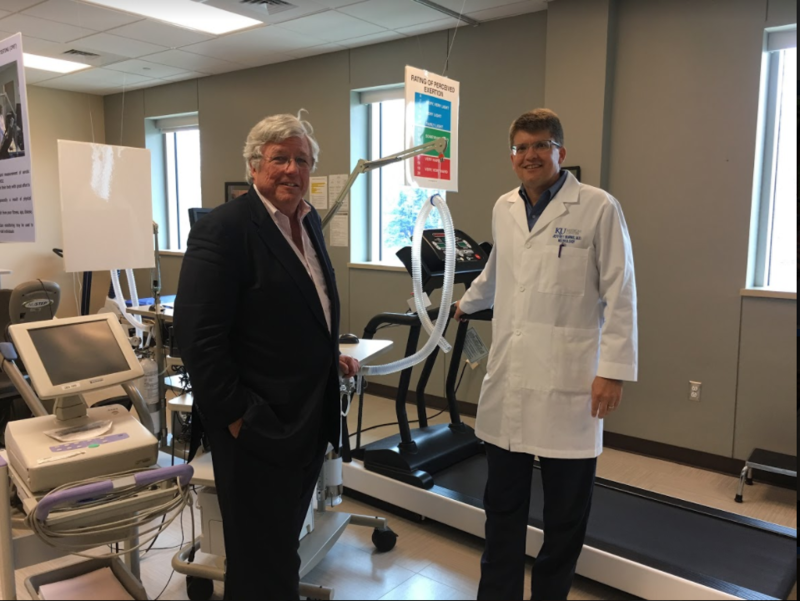 John Dwyer, left, president of the GAP Foundation, and Dr. Jeffrey Burns, co-director of KU's Alzheimer's Disease Center, are trying to recruit hundreds of people for clinical trials on the effects of diet, exercise and drugs on the disease.