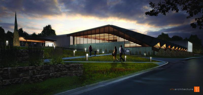 A rendering of the south side of the new Johnson County Arts & Heritage Center, which opens to the public June 10.