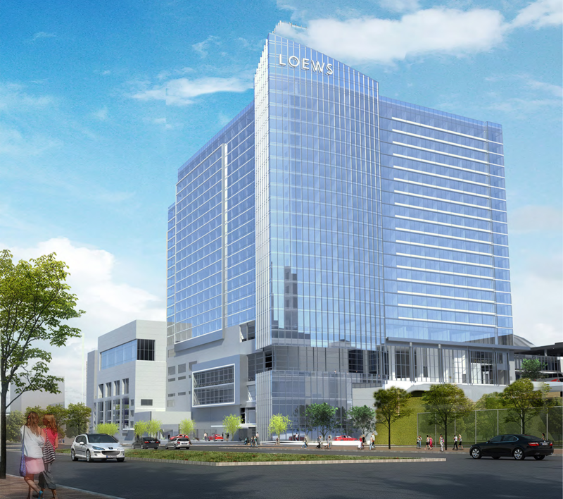 Loews Hotels has agreed to operate the 800-room convention hotel that is scheduled to breakground in October.