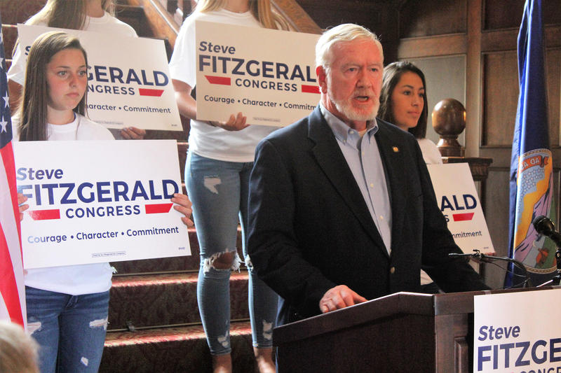 Kansas state Sen. Steve Fitzgerald, a Republican from Leavenworth, announced his bid for the 2nd Congressional District on Thursday in Topeka.