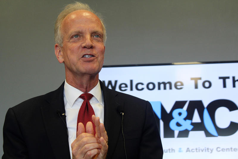 "U.S. Sen. Jerry Moran of Kansas was among the Republican senators voting in favor of a ""skinny repeal"" bill early Friday. The bill to take some parts of the Affordable Care Act off the books failed, 51-49."