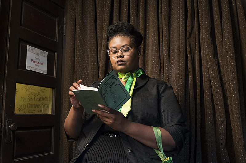 Marica Davis plays Marie in Michelle Tyrene Johnson's 'The Green Book Wine Club Train Trip,' winner of the Olathe Civic Theatre Association's New Works Playwright Competition.