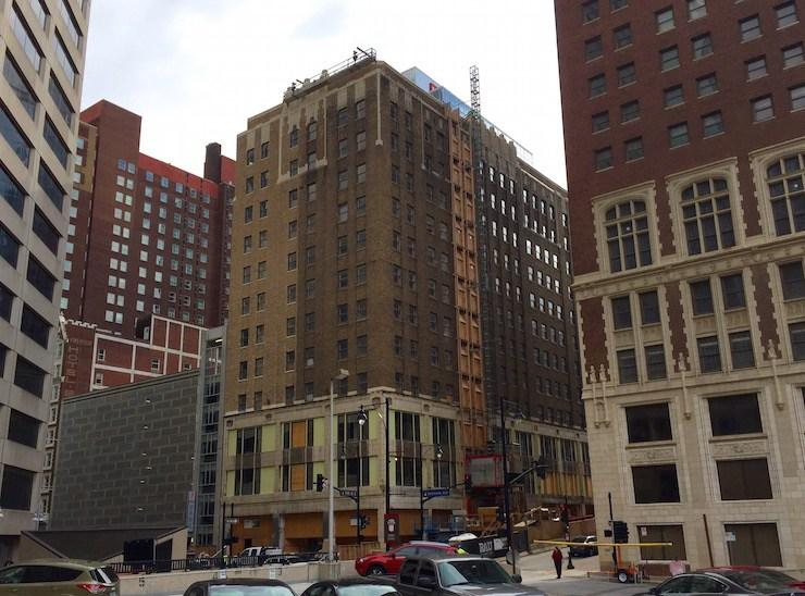 The Brookfield building is being converted to apartments and a hotel.