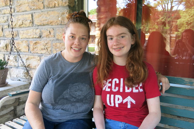 Courtney Christensen, left, decided to move her 14-year-old daughter Honor from Crossroads Academy to Lincoln Prep because she felt there would be more opportunities at a larger school.