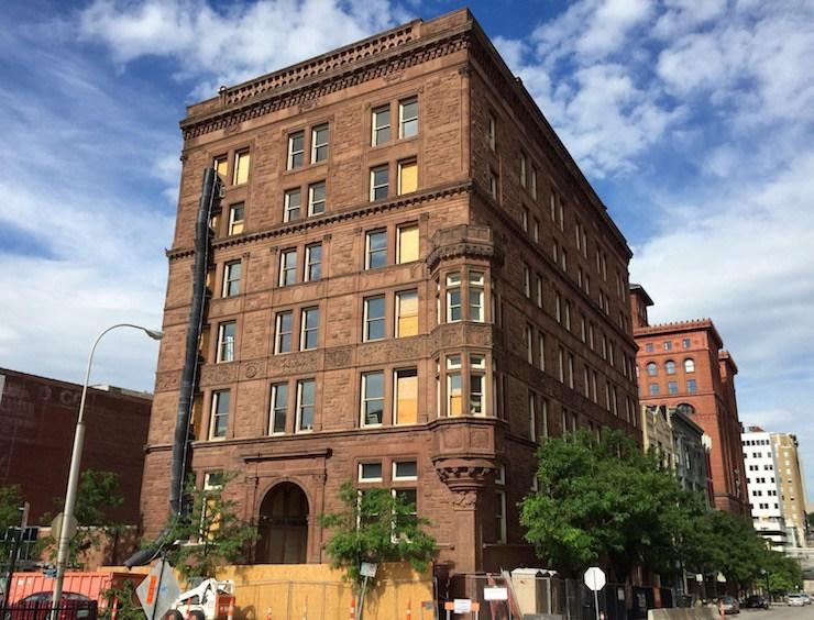 The historic New England building is being renovated into 32 apartments. It used historic tax credits from the state of Missouri for its redevelopment. (S