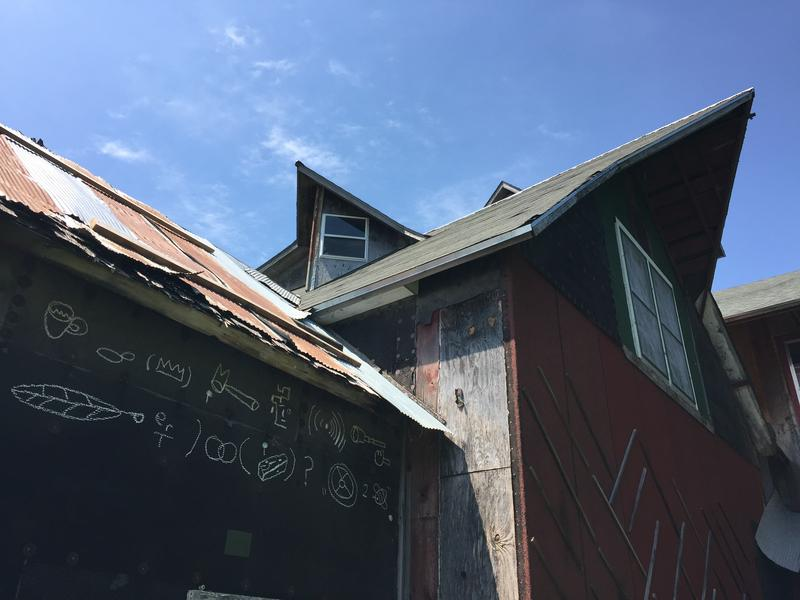 The 'barn' at Art Farm in Nebraska is parts of many old barns pieced together over the years.