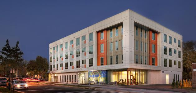 An Artspace project called Brookland Artspace Lofts in Washington, D.C. includes residential and studio spaces for artists and their families.