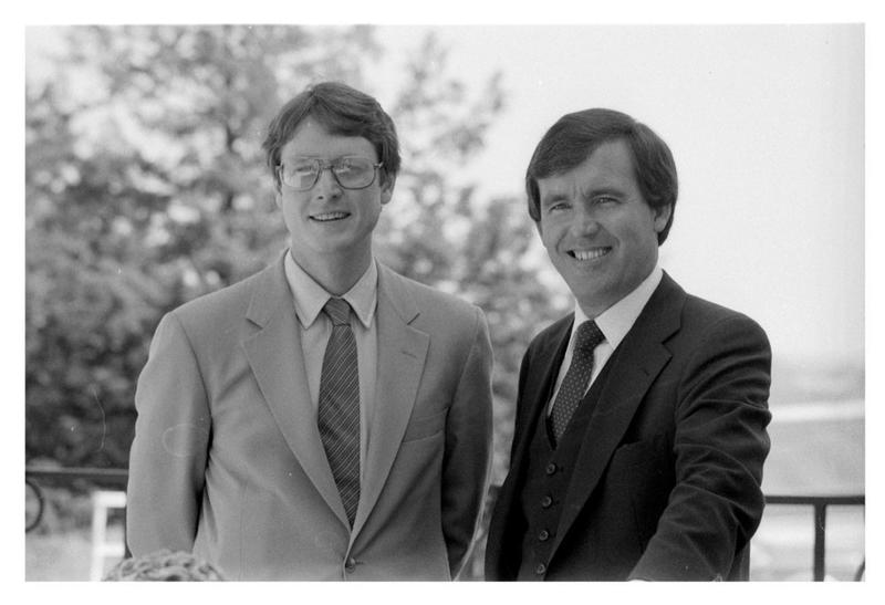 Tom Docking, left, served as lieutenant governor with Gov. John Carlin from 1983 to 1987. Docking died Thursday at the age of 63.