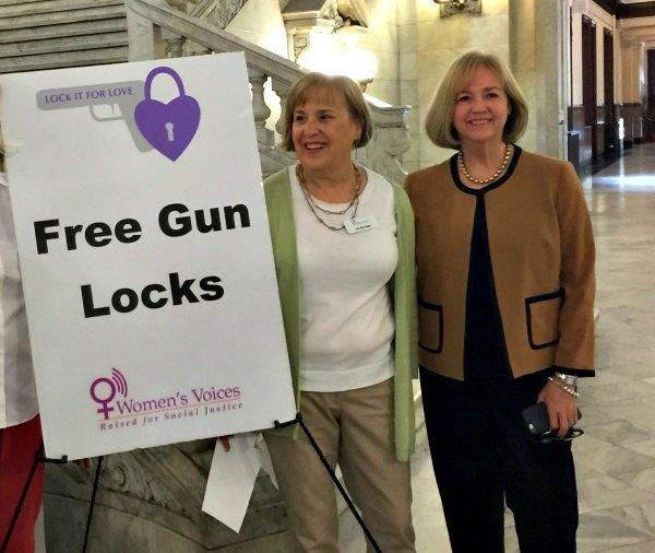 Grandparents Against Gun Violence is partnering with community organizations to give out free gun locks through their Lock it for Love program.