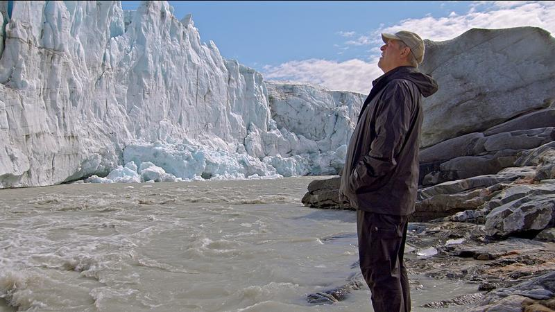 In a scene from the documentary 'An Inconvenient Sequel: Truth To Power,' former Vice President Al Gore visits the site of a declining glacier.