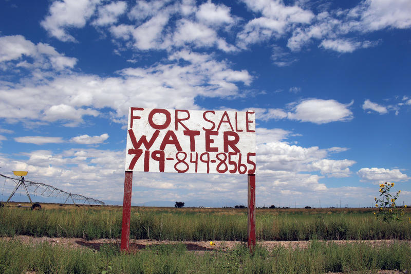 Water is an in-demand commodity in Del Norte, Colorado.