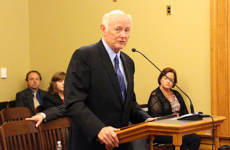 Kansas Revenue Secretary Sam Williams updates lawmakers on a project to migrate driver's license records off an aged mainframe to a new system set to launch at the start of 2018. Williams spoke to lawmakers Friday at the Statehouse in Topeka.