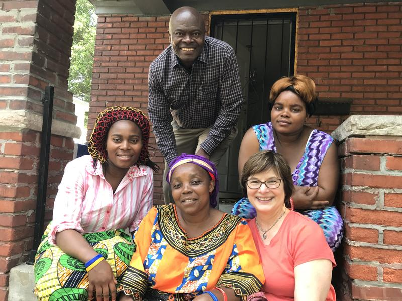 Maria Wakondo (far right) lives with her extended family in Kansas City's Historic Northeast neighborhood.