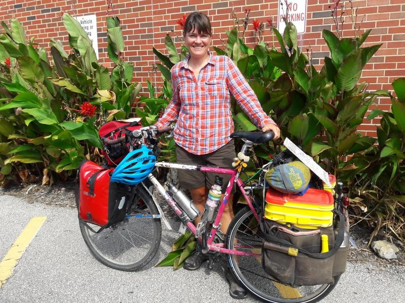 Having pedaled more than 5,000 miles since her last visit in Kansas City, Sara Dykman has plenty to share about her journey with the monarch butterflies.