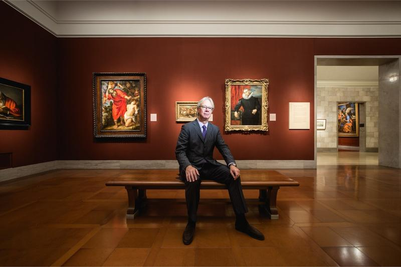 Julian Zugazagoitia sits in one of the galleries at the Nelson-Atkins Museum of Art.