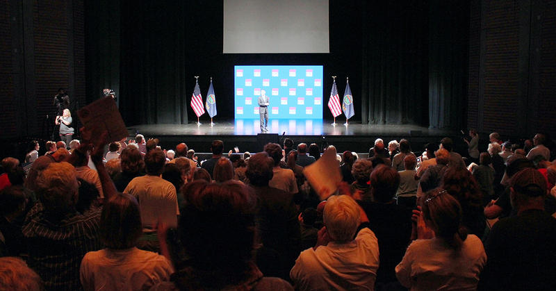 Hundreds attended the American Civil Liberties Union event Sunday night in Lawrence that served as the kickoff of a national voting rights effort.
