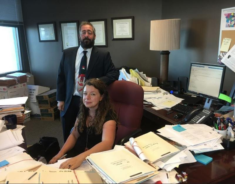 As District Defender, Ruth Petsch heads the Kansas City public defender's office. Standing beside her is Deputy District Defender Joseph Megerman.