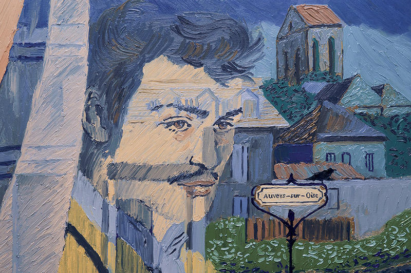 Douglas Booth plays Armand Roulin, who attempts to piece together the last days of Vincent Van Gogh's life, in the beautifully-animated 'Loving Vincent.'