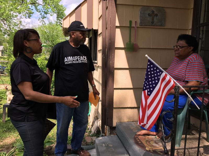 Back in April, members of Aim4Peace canvassed a neighborhood on Kansas City's East Side after a shooting at 45th and Cleveland.