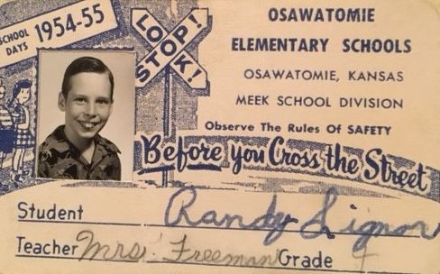 Randy Michael Signor's Osawatomie school identification card.