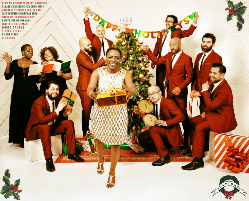 A detail of Sharon Jones and the Dap-Kings' 'It's A Holiday Soul Party.'
