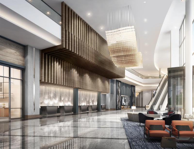 A Rendering Showing What The Loews Kansas City Convention Center Hotel Project Is Expected To Look Like When Completed In March 2020