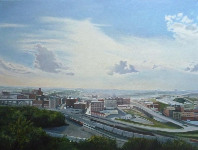 'West Bottoms 2014' examplifies the skill with which Jane Pronko treats local landscapes.