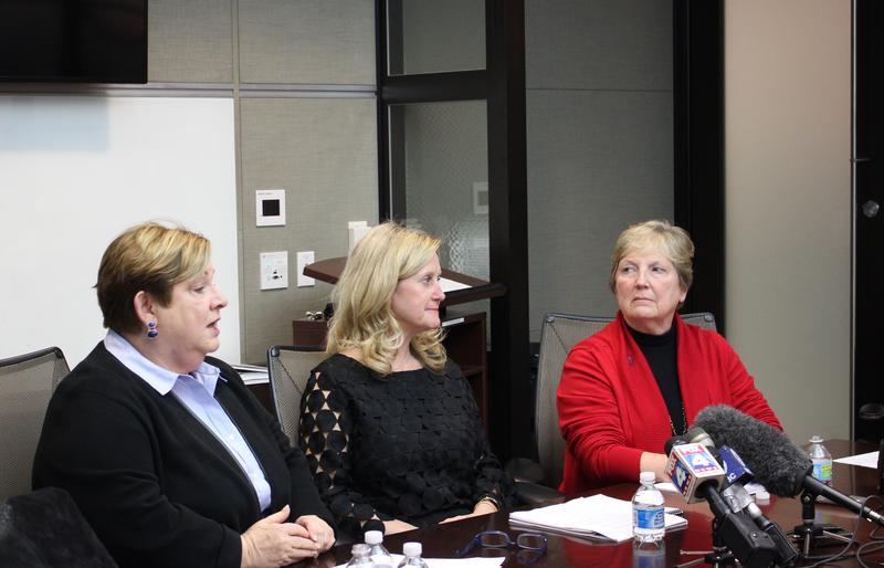 Kansas City Council Members Kathryn Shields, Heather Hall and Teresa Loar held a press conference Tuesday to discuss their ordinance regarding the city's plan for a downtown convention hotel.