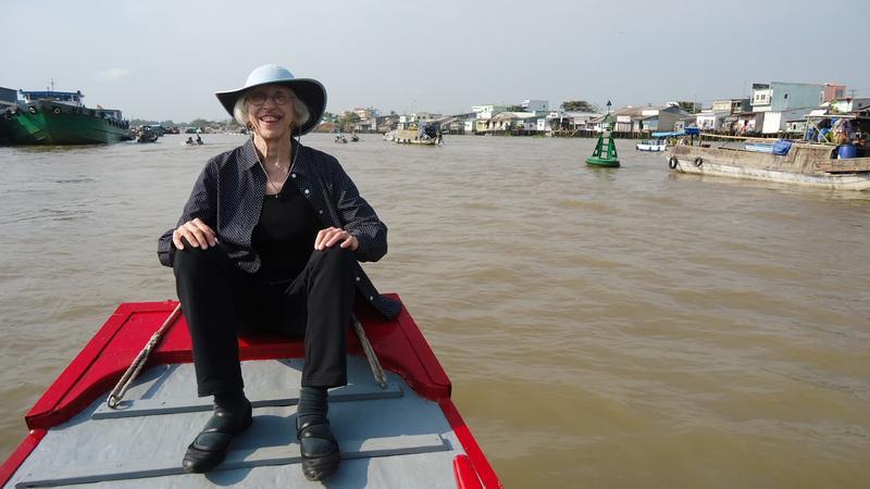 Lawrence poet Elizabeth Schultz in Vietnam's Mekong Delta.