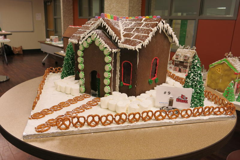 Students in the culinary arts program at Manual baked the gingerbread for the houses themselves.
