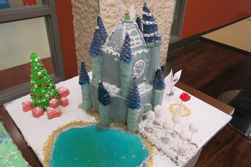 The elaborate gingerbread houses took students about a month to build.