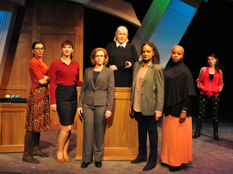 "The actors in ""Project Dawn"" are (from left) Vanessa Davis, Leah Swank-Miller, Jennifer Mays, Kathleen Warfel, Nedra Dixon, Lanette King and Amy Attaway."