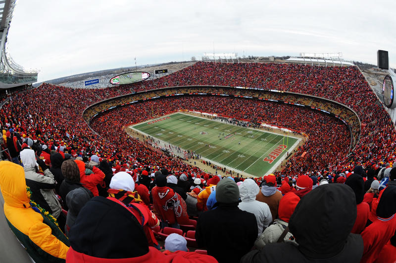 Despite the weather, Arrowhead Stadium is bound to be a 'Sea of Red' when the Chiefs face off against the Titans in the AFC Wild Card round.