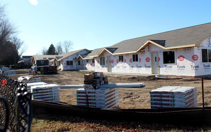 New apartments are being built in Holdrege, Nebraska, where an elementary school used to be.