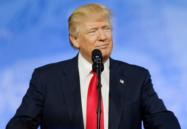 Donald J. Trump was the Religion News Association's Religion Newsmaker of the Year for garnering the conservative evangelical vote and for figuring prominently in a number of religion stories in 2017.