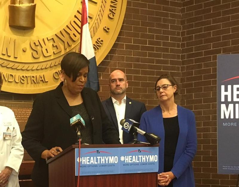 House Minority Floor Leader Gail McCann Beatty rolled out Democrats' plans for health care reforms last September. She was joined by fellow Democrats Rep. Greg Razer and Rep. Ingrid Burnett, both of Kansas City.