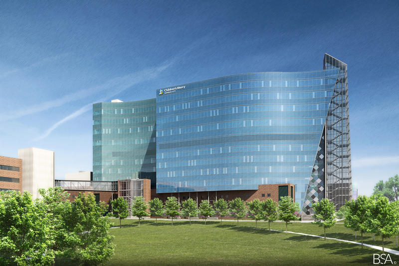 A nine-story Children's Mercy research facility on Hospital Hill will be completed in early 2020.
