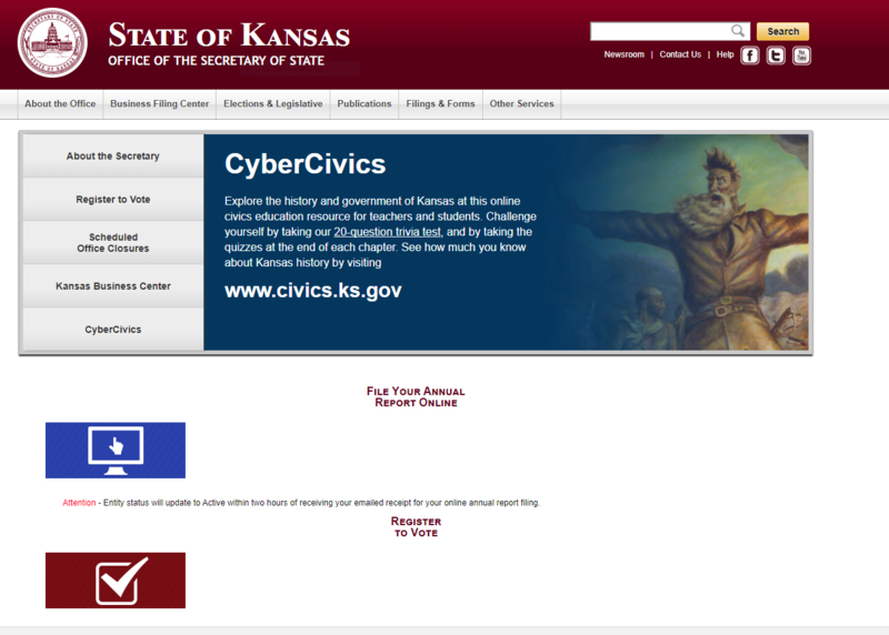 The Kansas Secretary of State's office removed some records from its website after a report that those forms revealed personally identifiable information about thousands of state officials.