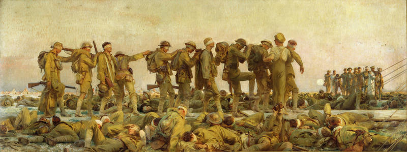 The painting 'Gassed' by John Singer Sargent will be on view in the National World War I Museum and Memorial's Wylie Gallery February 23 through June 3.
