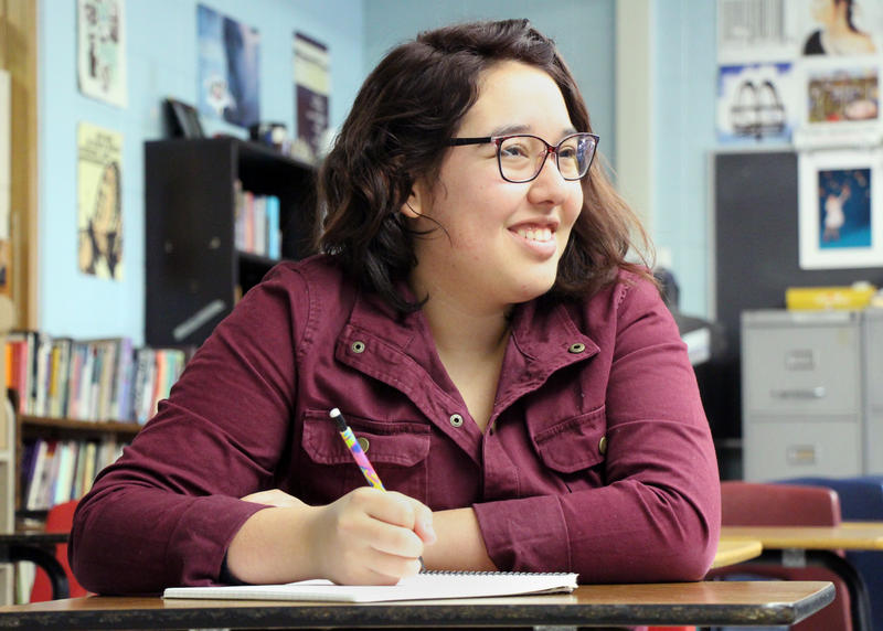 Columba Herrera worked to pay tuition for college courses she took while at Topeka West High School. A proposal from the Brownback administration would cover tuition for college classes taken by high school students.