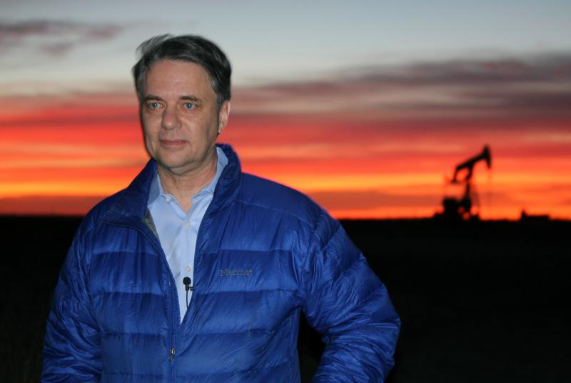 Jeff Colyer started his day near Hays as the lieutenant governor of Kansas. He was sworn in as governor later in Topeka.