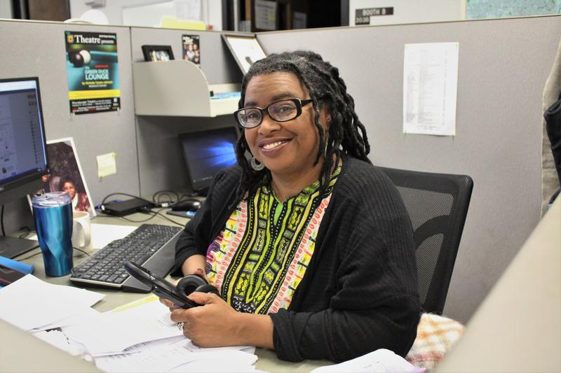 Besides being KCUR's race and culture reporter, Michelle Tyrene Johnson is the writer of a new play, 'The Green Duck Lounge.'