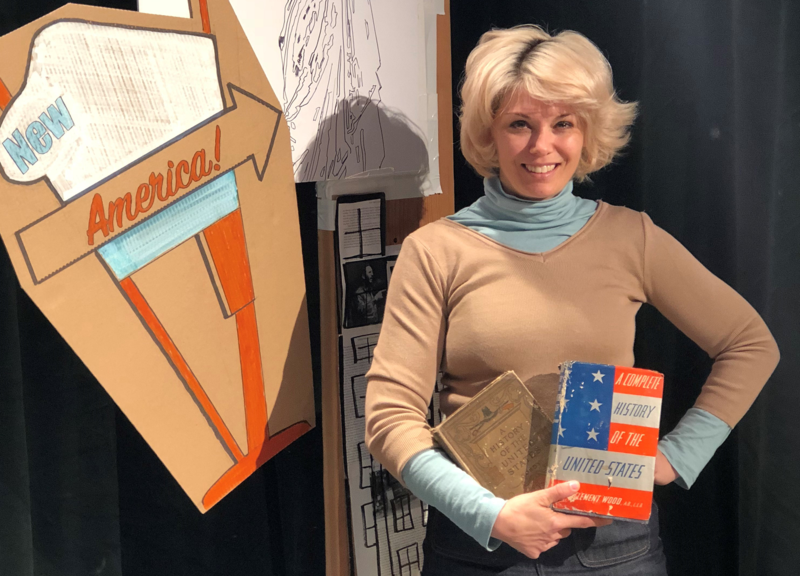 Heidi Van is the creator, director and producer of 'Good Men and Citizens,' the first production at SqueezeBox Theatre. Van worked with UMKC theater students on the play, which explores what U.S. history textbooks leave off the page.