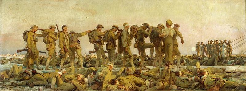 'Gassed,' completed in 1919, was a strong departure from John Singer Sargent's bread-and-butter artwork, which took a more domestic tack.