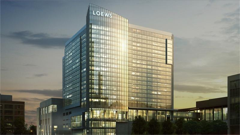 A rendering of the Loews Kansas City Convention Center Hotel, a $322.7 million project expected to be completed in April 2020.