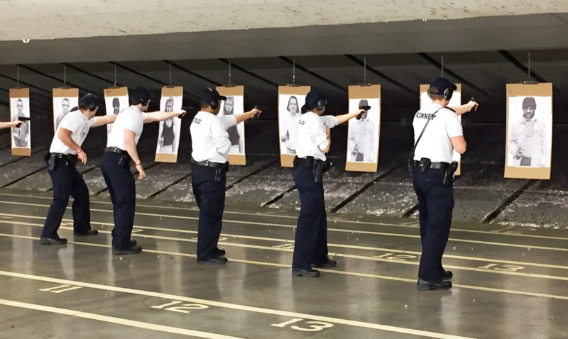 Class 162 at the Kansas City Police Department Academy recently took a state mandated firearms test. The department is struggling to recruit, especially women and minorities.